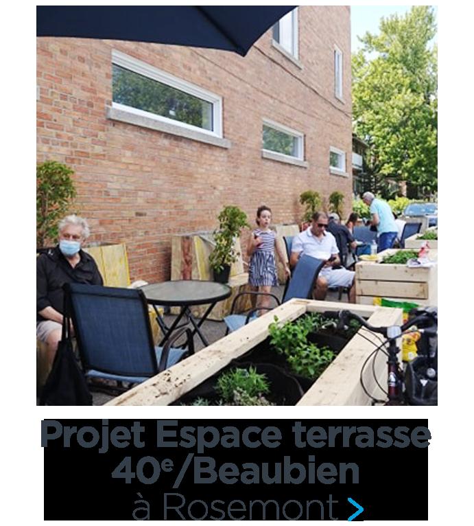 Une nouvelle terrasse voit le jour dans Rosemont